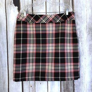 Hanna Andersson Tartan Plaid Straight Mini Skirt